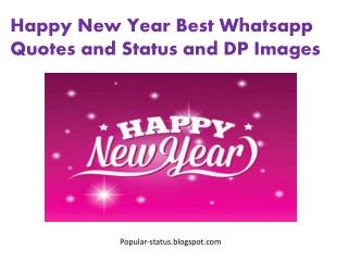 Happy New Year 2016 DP Images and Wishes