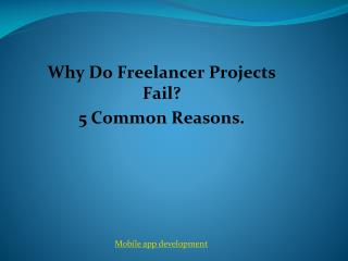Why do freelancer projects fail? 5 common reasons