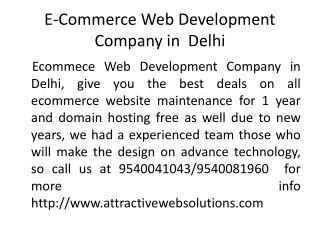 E-commerce Web Development Company in Delhi