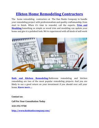Elkton Home Remodeling Contractors