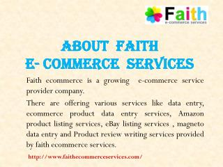 Ecommerce Data Entry Services