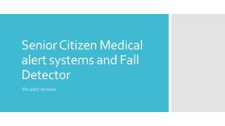 life alert systems for seniors