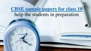 Free CBSE sample papers for class 10 online