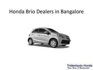 Honda Brio Dealers in Bangalore