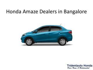 Honda Amaze Dealers in Bangalore