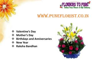 Send Online Flowers & gifts to Pune