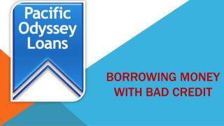 Borrowing Money With Bad Credit