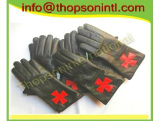 Masonic Knight Templar Gauntlet Black