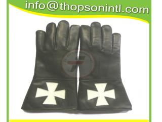 Masonic Knight Templar Gauntlet white cross