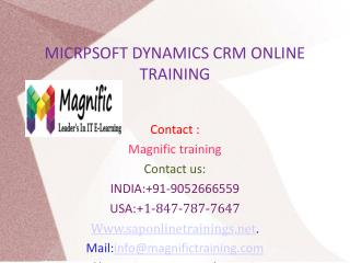 Microsoft Dynamics CRM Online Training in UK