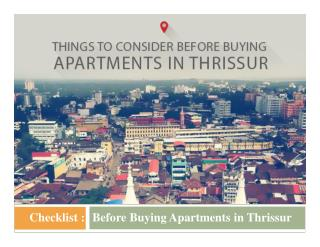 Checklist  : Before Buying Apartments in Thrissur