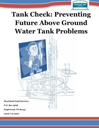 Tank Check: Preventing Future Above Ground Water Tank Problems