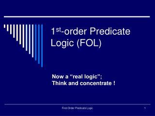 1st-order Predicate Logic FOL
