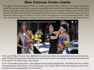 Miss Universe Crown Jewels