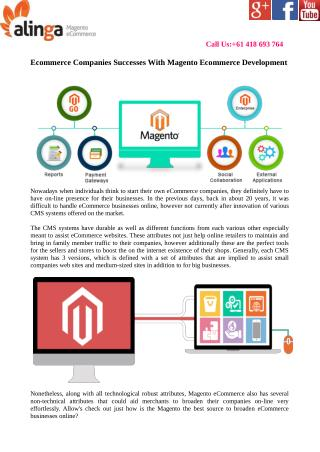 eCommerce Companies Successes With Magento eCommerce Development