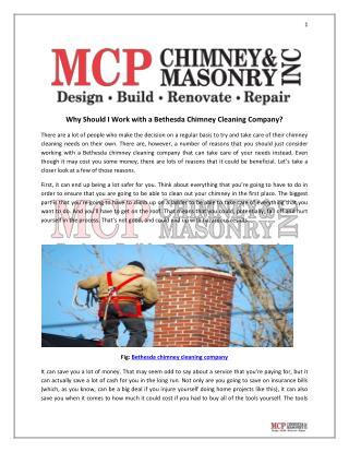 Bethesda chimney cleaning company