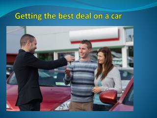 Getting the best deal on a car