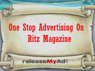 Book Your  ads on Ritz Magazine