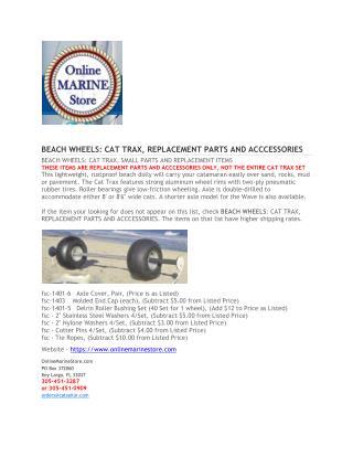 BEACH WHEELS - Online marine store