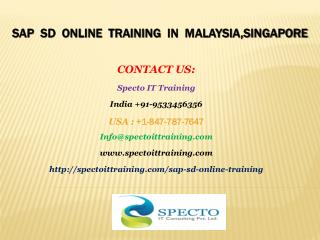 sap sd online training in malaysia,singapore