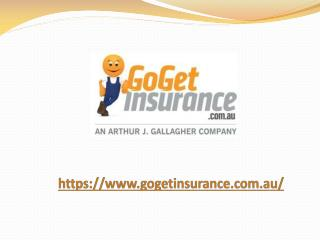 Tools & Income Protection from GoGet Insurance