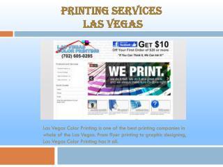 Las Vegas Color Printing Companies