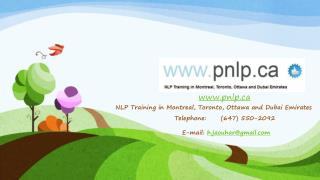 NLP Programs in Toronto, Ottawa, Canada and Emirates