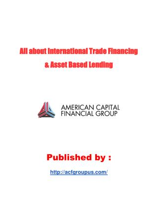 International Trade Financing