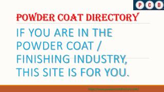 Powder Coating Forum and Manufacturing Companies