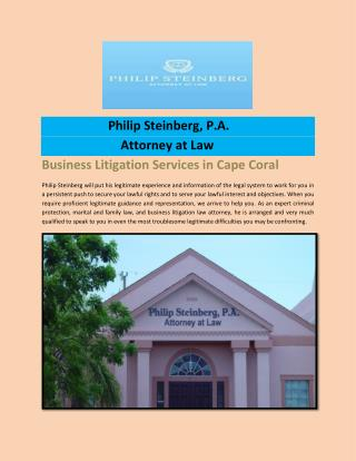 Business Litigation Services in Cape Coral