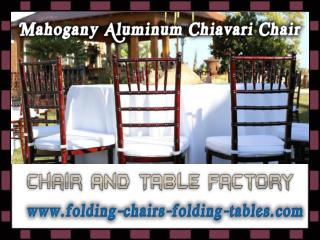 Mahogany Aluminum Chiavari Chair - Chiavari Chairs Larry