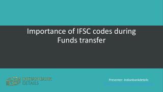 IFSC codes Importance