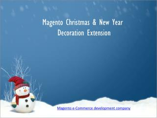 Magento Christmas Decoration Extension