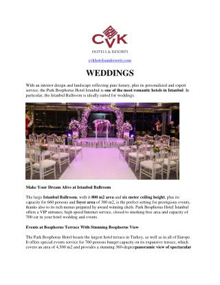 Wedding luxury hotel in istanbul
