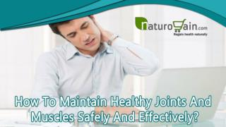 How To Maintain Healthy Joints And Muscles Safely And Effectively?