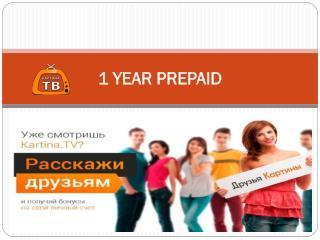 1 Year Prepaid