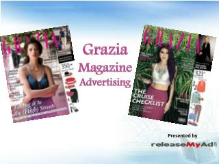 Book Grazia Magazine Advertising