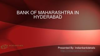 MICR code for bank of maharashtra in hyderabad