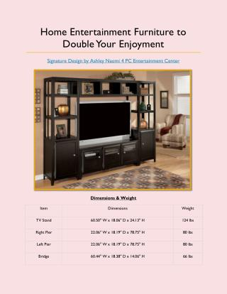 Home Entertainment Furniture to Double Your Enjoyment