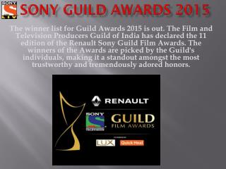 Watch Renault Sony Guild Film Awards Online - SonyLiv