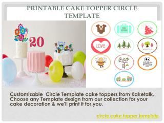 Printable Cake topper Circle Template
