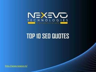 TOP 10 SEO QUOTES