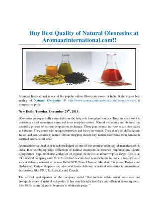 Buy Best Quality of Natural Oleoresins Online
