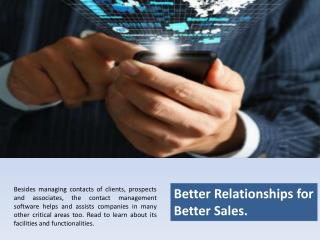 Contact Management Software, Sales Management Software