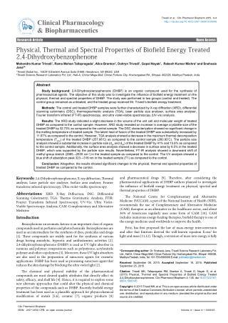 Biofield Treated 2,4-Dihydroxybenzophenone