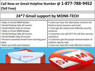 24/7 Email Support- Gmail Password Recovery 1-877-788-9452