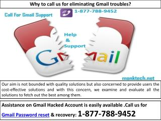 Simplify Email Issues-Gmail Password Recovery {1-877-788-9452}