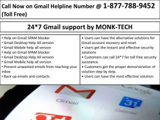 Gmail Password Recovery-Tech/help Service at Monktech