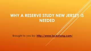 Why A Reserve Study New Jersey Is Needed