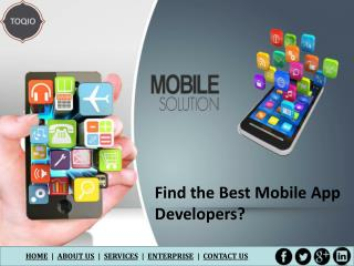 Find the Best Mobile App Developers?